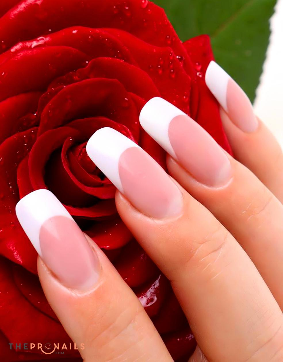 The Golden Nails | Full Set With Pink & White SNS